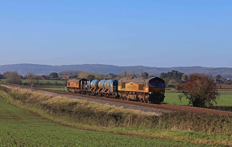 66850/66846, diverted 20.34 Bristyol Kingsland Road-BristolKingsland Road, Churcham, near Gloucester, 4-11-20.