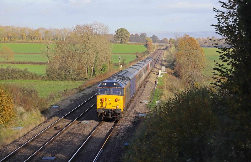 50007/50049, top-and-tail 11.35 Long Marston (Warwickshire)-Newport Docks, Oakle Street, near Gloucester, 4-11-20.