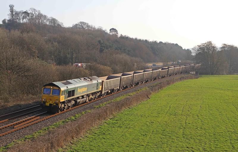 66601, 15.42 Exeter Riverside Yard-Whatley Quarry, Cullompton, 1-3-21.
