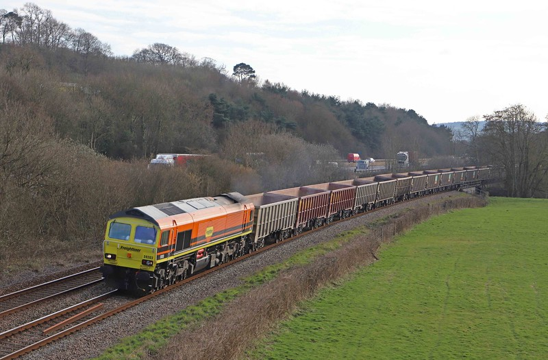 59203, 15.42 Exeter Riverside Yard-Whatley Quarry, Cullompton, 8-3-21.