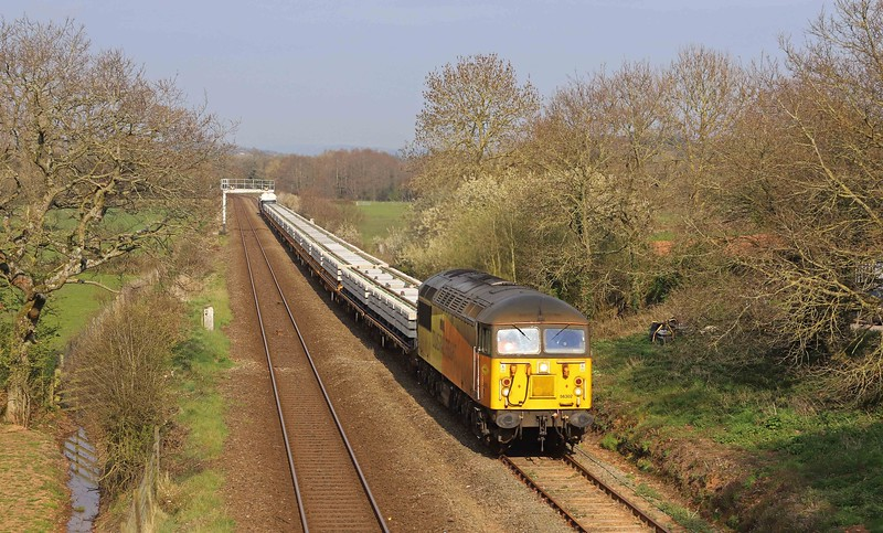 56302, 14.36 Westbury Yard-Crediton, Uton, near Crediton, 18-4-21. To a worksite on the Okehampton branch.