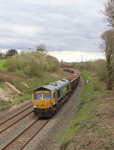 66617, 14.21 Exeter Riverside Yard-Whatley Quarry, Dean Hill Road, Willand, near Tiverton, 8-4-21.