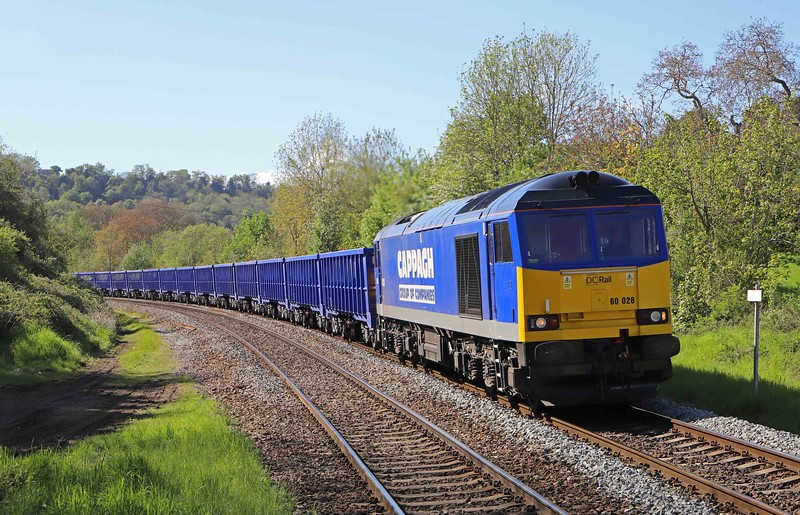 60028, 15.43 Bristol Freightliner Terminal-Willesden DC Rail Sidings, Freshford, near Bath, 19-5-21.