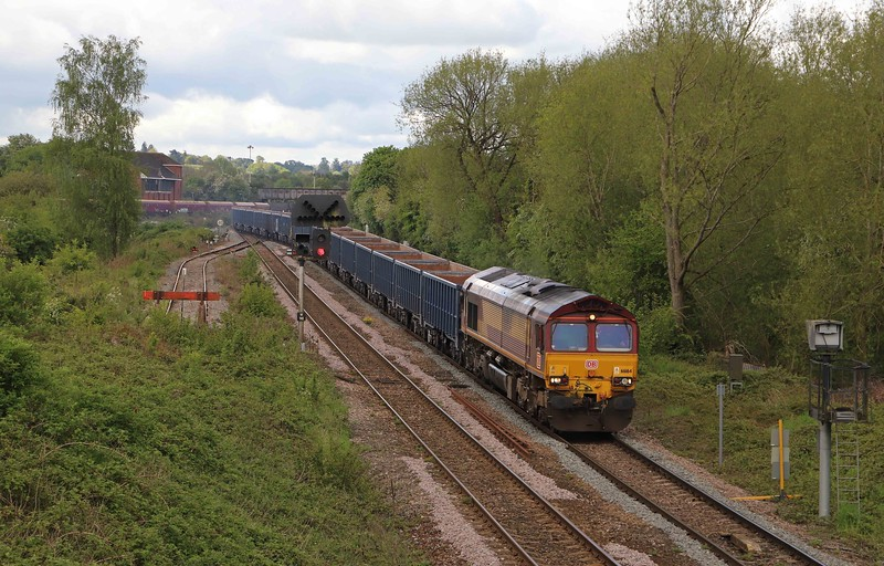 66164, 10.09 Westbury Yard-Tytherington (gloucestershire), Hawkeridge Junction, Westbury, 19-5-21.