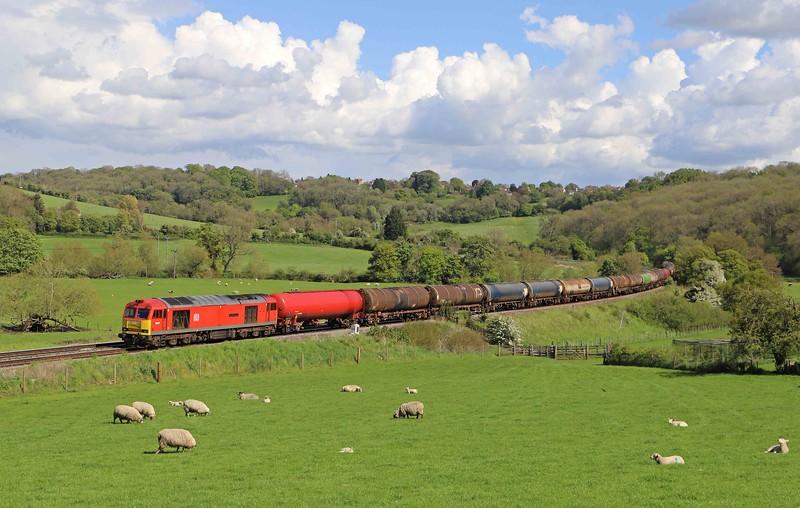 60019, 13.35 Theale-Robeston Sidings, Freshford, near Bath, 19-5-21.