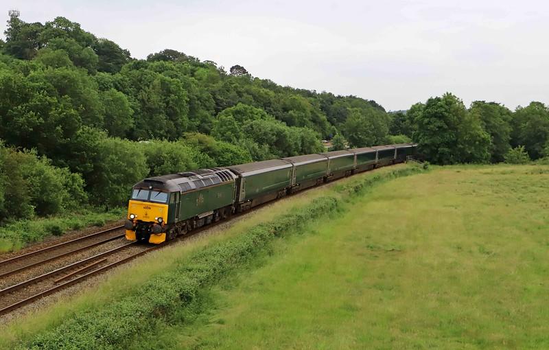 57605, 14.37 Penzance Traction and Rolling Stock Maintenance Depot-London Paddington, Cullompton, 21-6-21.