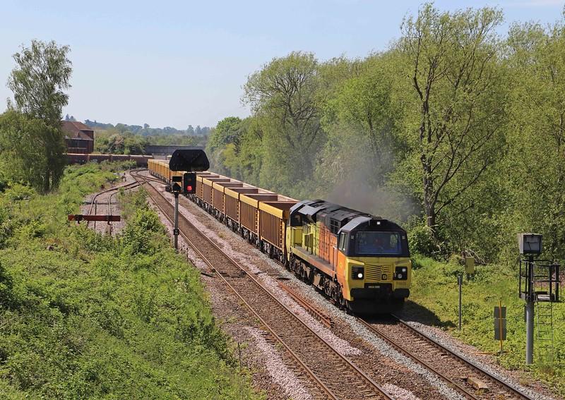 70805, 11.42 Westbury Yard-Cliffe Hill Stud Farm, Hawkeridge Junction, Westbury, 1-6-21.