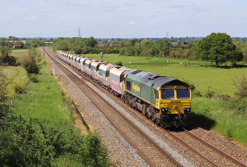 66568, 14.17 Avonmouth Bennett's Siding- West Drayton, Heywood, near Westbury, 8-6-21.