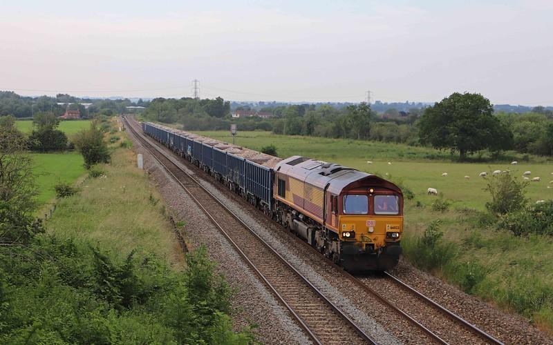 66023, 16.07 Tytherington (Gloucestershire)-Westbury Yard, Heywood, near Westbury, 1-7-21.