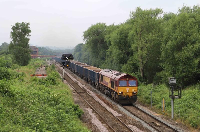 66023,10.22 Westbury Yard-Tytherington (Gloucestershire), Hawkeridge Junction, Westbury, 1-7-21.