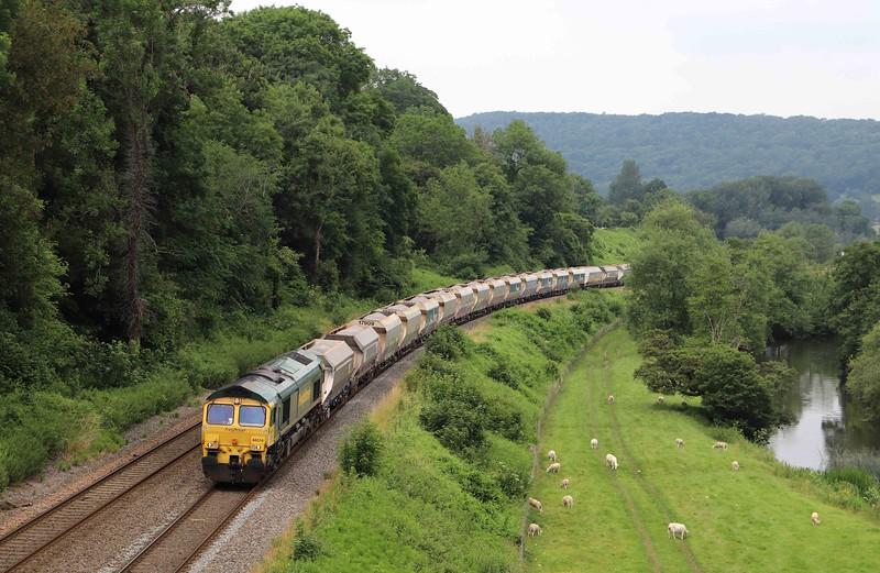 66514, 14.17 Avonmouth Bennett's Sidings-West Drayton, Dundas Aqueduct, Limpley Stoke, near Bath, 1-7-21.