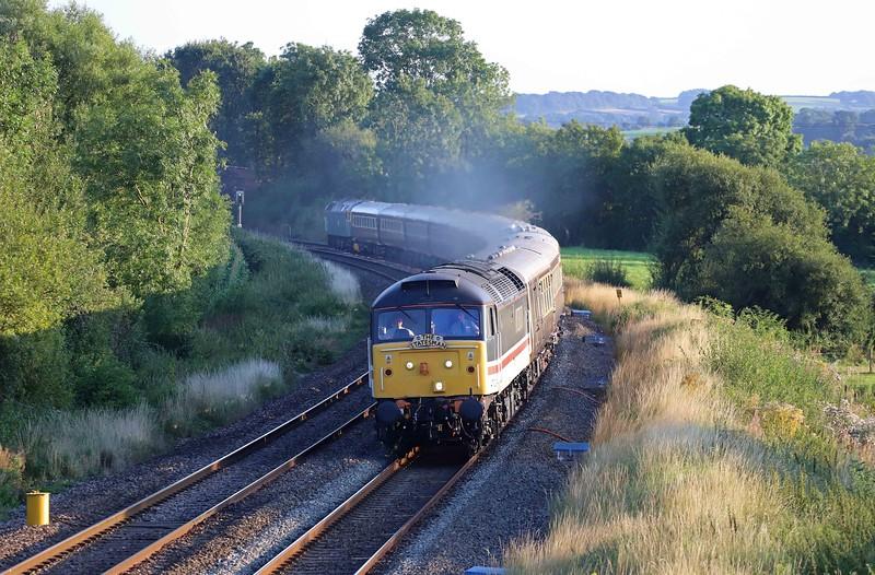 47828/47614(47853), 17.25 Kingswear-High Wycombe, The Dartmouth Royal Regatta Statesman, Willand, near Tiverton, 28-8-21.