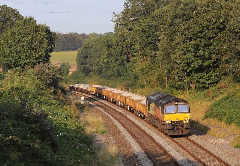 66846, 17.10 Westbury-Burngullow Junction, Whiteball, 3-8-21.
