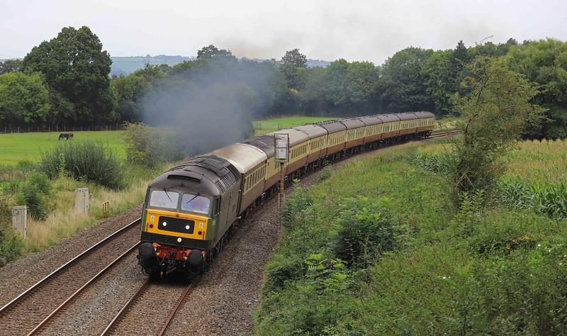 47805, 08.25 Crewe-Kingswear ecs, Willand, near Tiverton,, 13-9-21. For the following day's The Welshman tour.