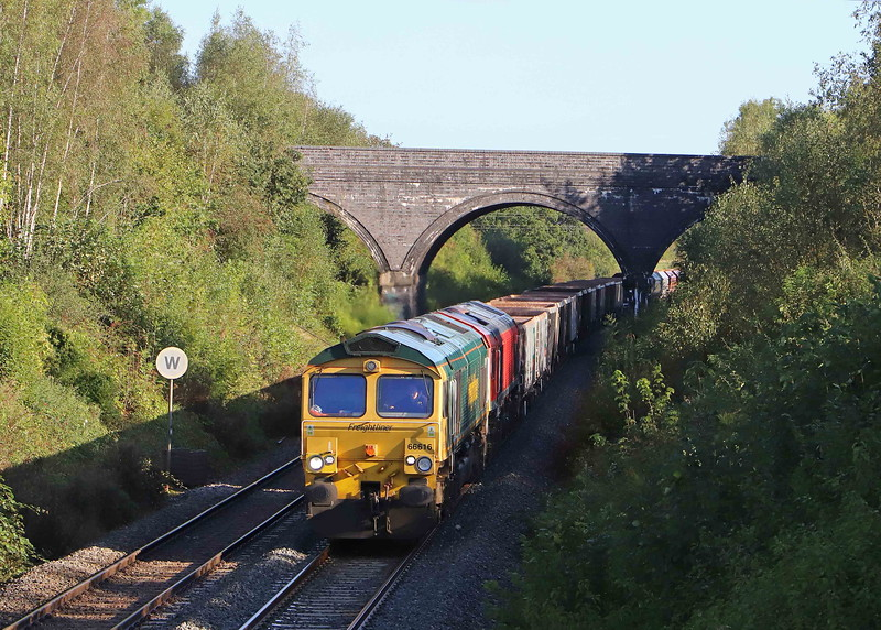 66616/59201, 6.41 London Acton Yard-Merehead Quarry, Styles Hill, Frome, 29-9-21.