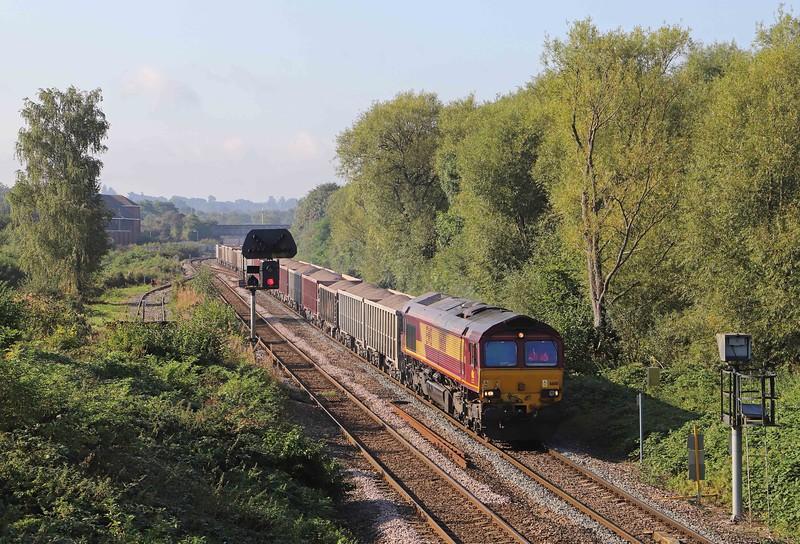 66181, 10.02 Westbury Up Yard-Cricklewood Aggregates, Hawkeridge Junction, Westbury, 22-9--21.