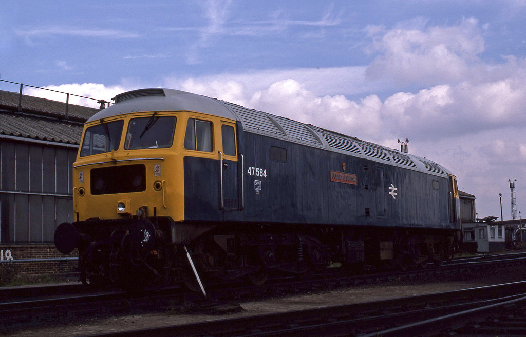 47584, stabled, London Stratford TMD, 13-9-86.