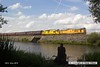 160723-057     Network Rail loco's, class 31 no 31233 leading, and class 97 no 97304 John Tiley, are captured passing Butterley reservoir with the 13.51 Hammersmith to Swanwick Junction.