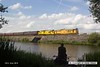 160723-054     Network Rail loco's, class 31 no 31233 leading, and class 97 no 97304 John Tiley, are captured passing Butterley reservoir with the 13.51 Hammersmith to Swanwick Junction.