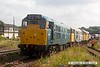 160723-018     A trio of Brush type 2's, all fired up, a sight you don't see very often. Leading is blue 5580 (31162), followed by 31108, and finally Network Rail yellow no 31233. Captured in the yard at Swanwick during the Midland Railway Centre summer diesel gala.
