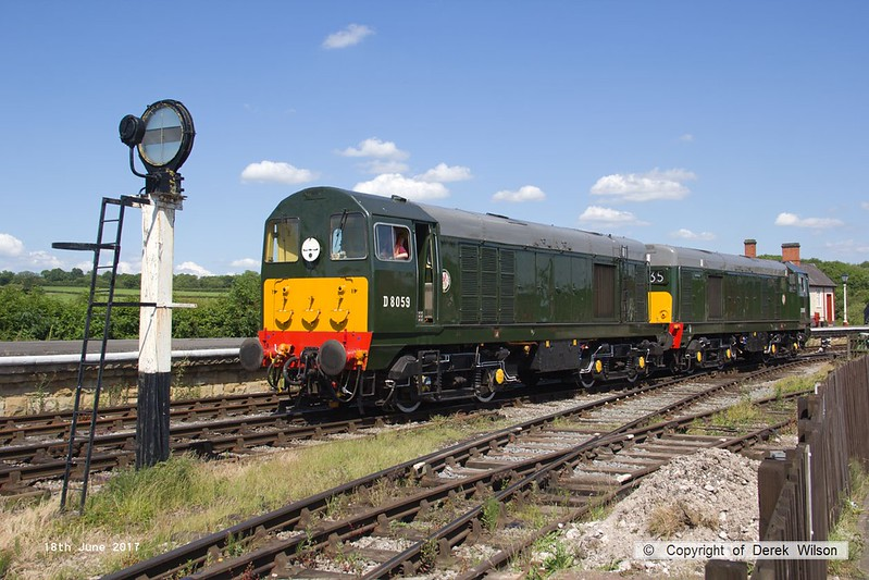 170618-035  English Electric type 2's No's D8059 & D8188 are seen at Swanwick.