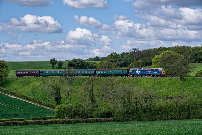 47579 crosses Grosvenor Road Bridge with the 12:30 Alresford - Medstead & Four Marks, during a running day on 4th May 2019.