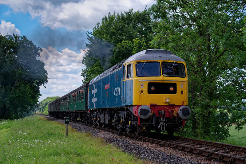 47579 at Rookwood Lane with the 12:55 Alresford - Alton, <br /> during the Diesel Gala on 2nd June 2018.