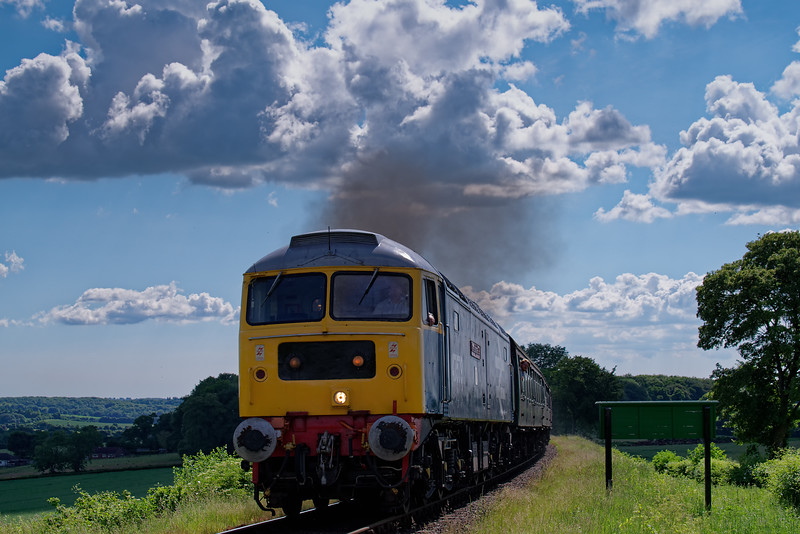 47579 on Wanders Curve, with the 15:35 Alresford - Alton, <br /> during the Diesel Gala on 3rd June 2018.