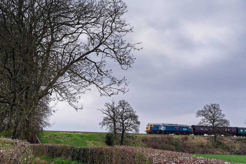 47579 on Wanders Curve, with the 13:10 Medstead & Four Marks - Alresford, <br /> during a running day on 6th April 2019.