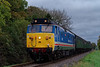 50027 at Stable Lane, with the 09:30 Alton - Alresford, <br /> during the Diesel Gala, on 20th October 2017.