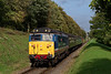 50027 at College Crossing, with the 13:30 Alton - Alresford, <br /> during the Diesel Gala, on 21st October 2017.