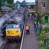 50027 pauses at Ropley, with the 16:20 Alton - Alresford, on 17th September 2016.