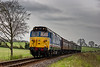 50027 on Wanders Curve, with the 15:00 Alton - Alresford, <br /> during the Diesel Gala on 22nd April 2016.
