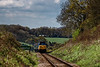 50027 at Wanders Crossing, with the 11:15 Alresford - Alton, <br /> during the Diesel Gala on 23rd April 2016.
