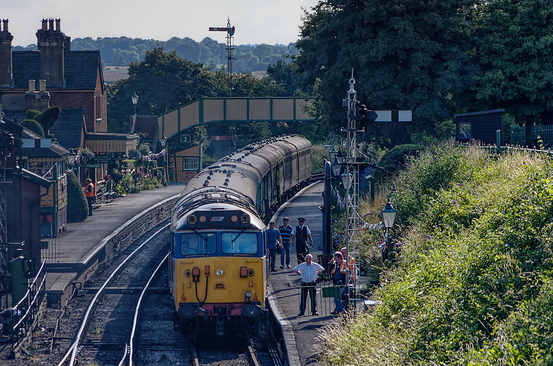 50027 at Ropley with the ECS for the Real Ale Train, on 3rd August 2013.
