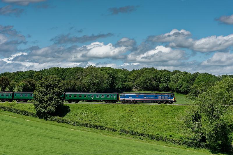 50027 at Grosvenor Road Bridge, with the 12:10 Alresford - Alton, on 8th June 2014.