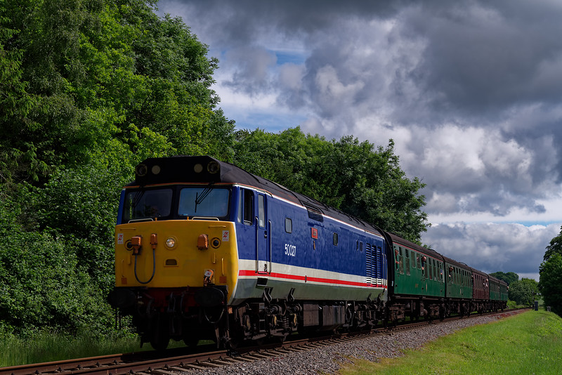 50027 at Stable Lane, with the 10:00 Alton - Alresford, <br /> during the Diesel Gala on 2nd June 2018.