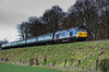 50027 approaching Stable Lane Bridge, with the 16:50 Alton - Alresford, <br /> during the Diesel Gala on 26th April 2013.