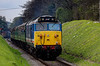 50027 powers away from Ropley, with the 11:45 Alresford - Alton, <br /> during the Diesel Gala on 28th April 2013.