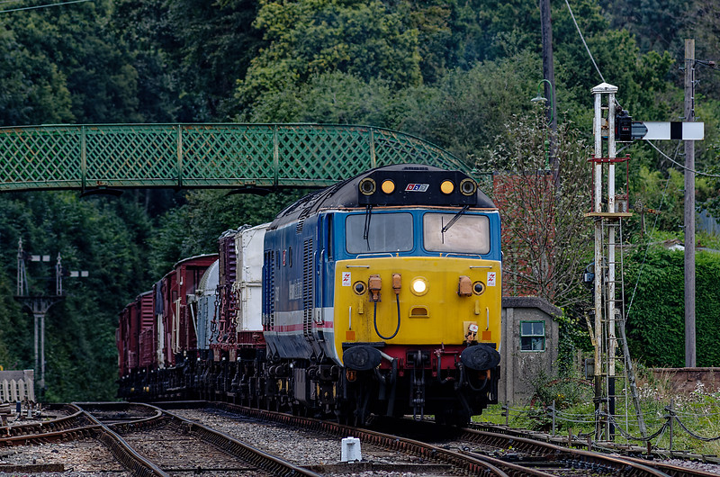 50027 with the Goods Train at Medstead & Four Marks, on 4th September 2012.