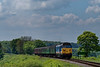 50027 passes the Wanders Crossing whistleboard, with the 12:30 Alresford - Alton, <br /> on 15th May 2016.