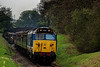 50027 at College Crossing, with the 15:55 Alresford - Alton, <br /> during the Diesel Gala on 22nd April 2016.