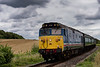 50027 at Northside Crossing, with the 15:14 Alton - Alresford, on 24th August 2014.