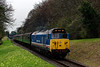 50027 at College Crossing, with the 13:55 Alresford - Alton, <br /> during the Diesel Gala on 22nd April 2016.