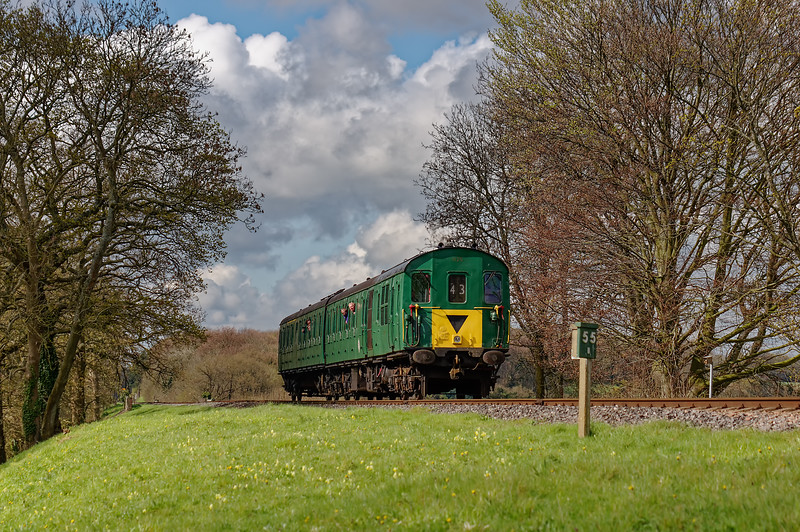 1125 at Rookwood Lane with the 09:55 Alresford - Alton, during the Diesel Gala <br /> on 23rd April 2016.