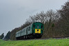 1125 at Stable Lane with the 11:15 Alresford - Alton, during the Diesel Gala <br /> on 22nd April 2016.