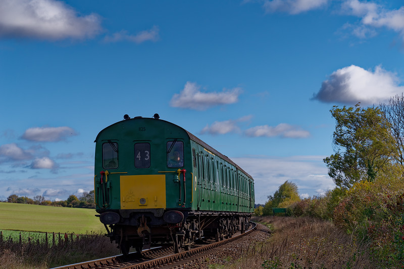 1125 at Northside Lane, with the 12:00 Ropley - Alresford, during Wizard Weekend, <br /> on 27th October 2018.