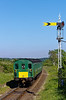 1125 passes Ropley Up Distant signal with the 15:54 Alton - Alresford on 26th May 2012.