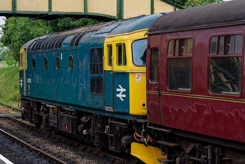 33053 in Ropley Station, waiting to take the ECS for the Real Ale Train back to Alresford, <br /> on 27th May 2017.