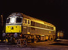 33208 and 45132 under the lights in Ropley yard, on 13th December 1998.  <br /> Scanned Transparency.